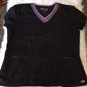 Grey's Anatomy Black Scrub Top